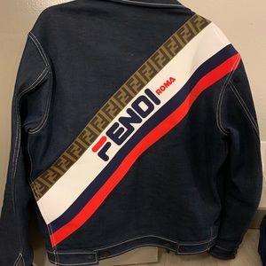 Fendi mania denim jacket